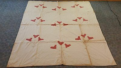 Vintage Flower Applique Quilt