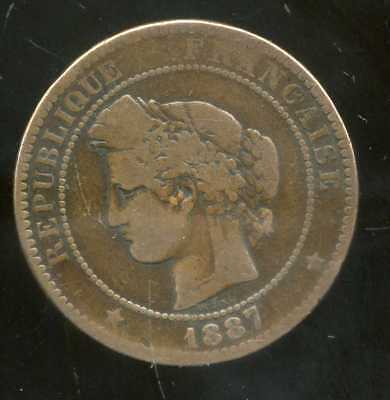 FRANCE   FRANCIA   10 centimes ceres 1887 A  ( 2 )