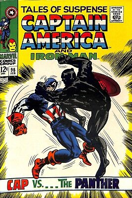 Tales of Suspense #98 (Feb '68, Marvel) Captain America vs. Black Panther NM