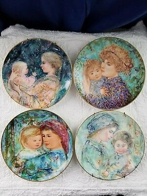 Hibel Collector Plates Four Edna Hibel Mother Daughter Collectable Decorative