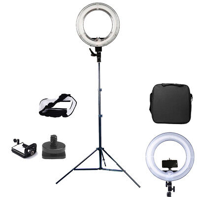 "13.5"" Kit 40W Ring Light 5500K Dimmable Ring Fluorescent Light Stand Camera Phot"