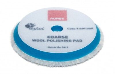 1 x Rupes 9.BW150H Wool Polishing Pad Coarse Bleu diam 130/145