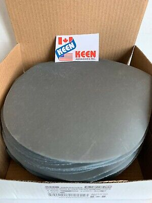 "25- 2000 Grit  6"" Dia Hook & Loop Sandpaper KEEN Abrasives 78406"