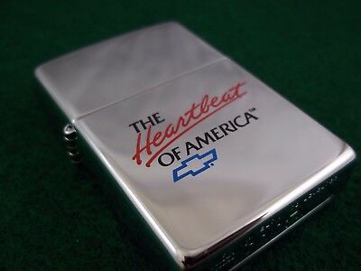 Vintage Zippo Lighter Chevy Etch & Paint Chevrolet America
