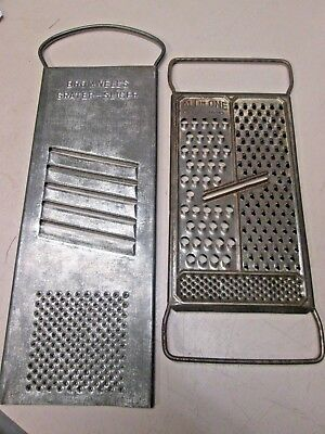 Pair of Antique Slicer / Graters, Bromwell & (Foley?) All in One - Pat Pend