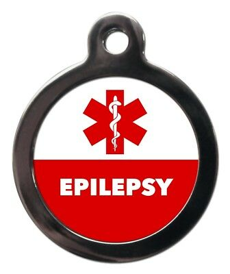 EPILEPSY MEDICAL ALERT PET TAG - Pet ID Tags - Engraved FREE - Dog Cat Discs
