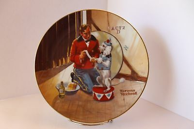 Norman Rockwell Museum's Collectors Plate - While The Audience Waits