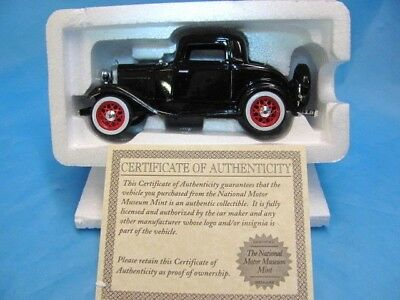 National Motor Museum Mint, 1932 Ford 3-window Coupe, 1:32 Scale Diecast NIB