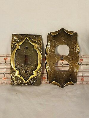 Pair of great MCM Switch Plate Covers, One Outlet Cover, One Light Switch Cover!
