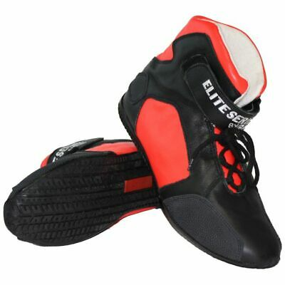 Rjs Racing Sfi 3.3/5 Elite Leather Driving Shoes Coral Red Size Mens 8 Womens 10