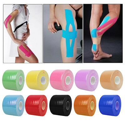 One Roll Pro Kinesiology Sports Muscle Care Tape Tax Elastic Waterproof 4 Color