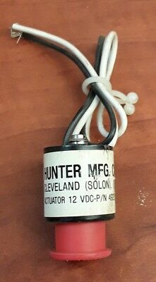 Hunter MFG. CO. Actuator 12 VDC-P/N 49231-02 Solenoid