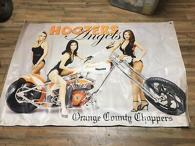 hooters girls orange county choppers bike banner. this banner is aprox, 6 foot