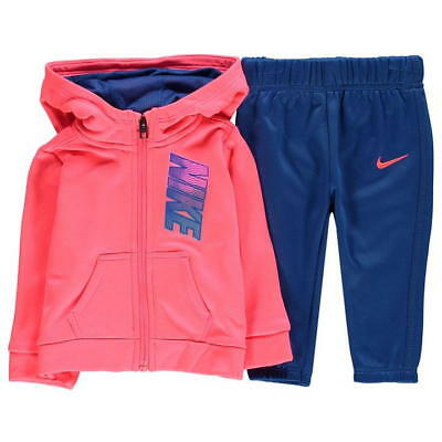 Nike Infant Therma Full Zip Tracksuit Children Hooded Jogging Suit - Pink / Blue