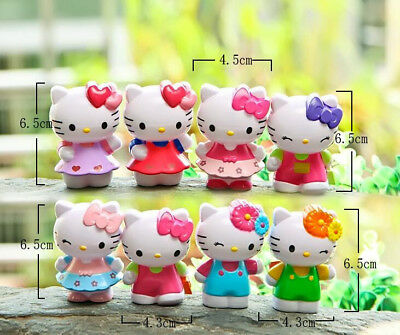 8Pcs/Lot 7cm Classic Limited Edition Hello Kitty Toy Figure Collection Gifts