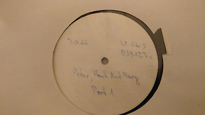 Peter, Paul And Mary-   ultra promoLP  WHITE LABEL PROMO
