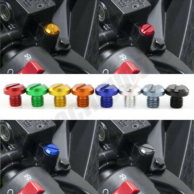 2 Pack  M10X1.25 CNC Mirror Hole Block Off Plugs Universal Fit For Motorcycle
