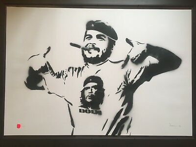 DOLK Che - Painting - Signed Numbered Edition - Banksy Blek Rat Urban Art Norway