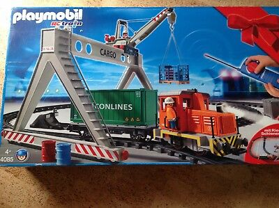 Playmobil Mega Set RC Train 99 Teile mit verlade Kran 4085 OVP