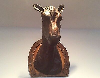 Antique 19Th C. French Wall  Equestrian Horse Head Trophy Wall Mount Hanging