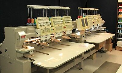 Commercial embroidery machine, dual function,6 head, good condition, SWF