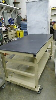 "72"" X 36"" X 37.5"" Tall Composite Top Laboratory Bench/table With Lower Shelf"