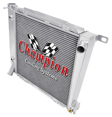 1967 Ford Galaxie Base Aluminum 3 Row Champion Cooling Radiator Aluminum 5.8L//6.
