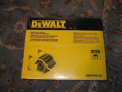 DEWALT DWFP55130 Heavy Duty 200 PSI Quiet Trim Air Compressor