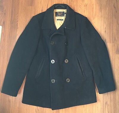 $275 JCrew Bayswater M Peacoat USN Wool Thinsulate Navy Blue Winter Jacket