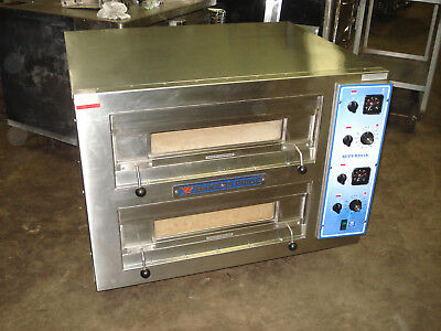BAKERS PRIDE Double Deck Countertop Electric Pizza Bake Deck Oven - EB-2-2828