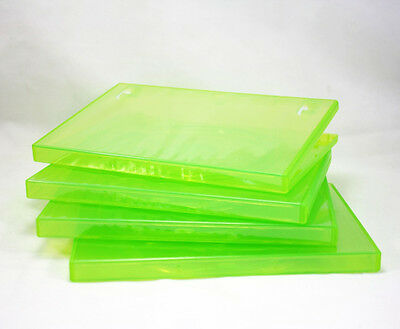 10 standard 14mm Translucent Green XBox 360 Game DVD CD Movie Cases Boxes