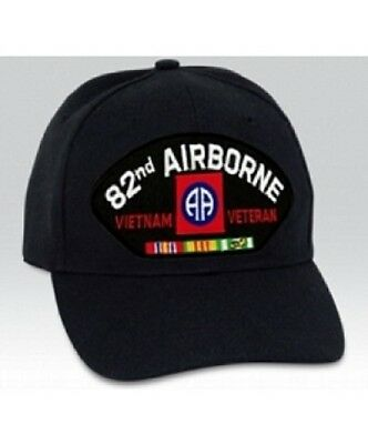 US ARMY 82ND AIRBORNE Vietnam Veteran with Ribbons MILITARY CAP - HAT