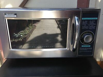Sharp R-21JCA-F Commercial Microwave Oven used