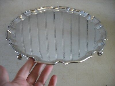 "Wyler of New York Silverplate 12"" round salver Chippendale style MADE ENGLAND"