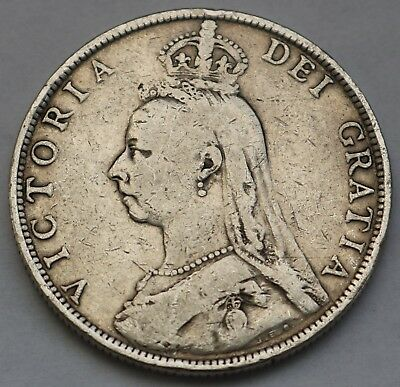 Uk Great Britain Victoria Silver Florin 1888 Free Shipping