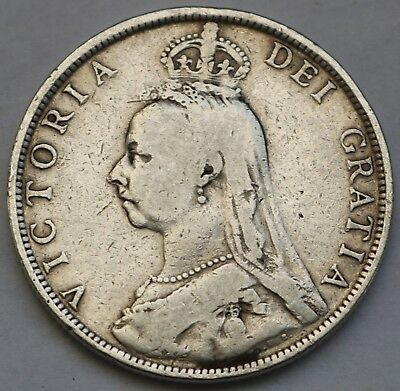 Uk Great Britain Victoria Silver Florin 1890 Free Shipping