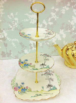 Country Garden 3 Tier Cake Stand, Foley China