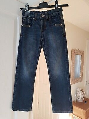 Boys Next Blue Jeans, Skinny Leg, Adjustable Waist, Age 8 Yrs, Height 128 cm, GC