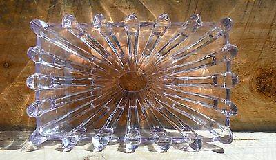 Antique Vintage Sun Kissed Purple Glass Dish Absolutely Stunning 9x6