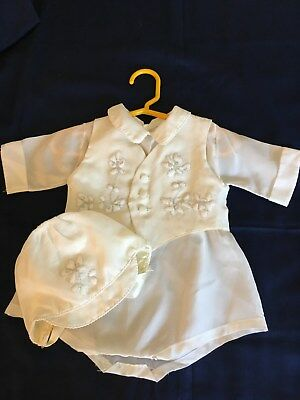 3 - Piece Infant Baptism Christening Outfit for a Boy