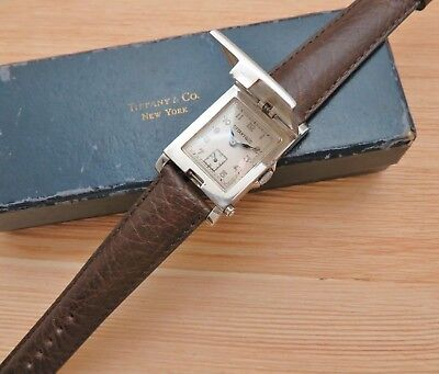Vintage 1920's Art Deco TIFFANY & CO. Flip Top Picture Watch Sterling Silver