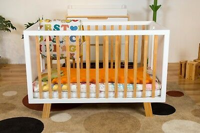 Beautifully designed Sapphire baby cot with cot mat included 50% OFF RRP $799