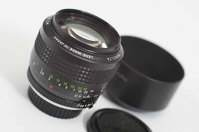 Minolta 85mm f/1.7 - MC Rokkor SR Mount - Sony E