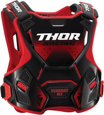 THOR MX Motocross Kids GUARDIAN MX Chest/Roost Guard (Red/Black) Choose Size