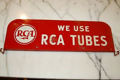 Vintage RCA Tube Sign for Dealer Tube Rack   'WE USE RCA TUBES'