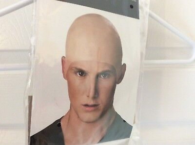 NEW Adult Bald Bare Shaved Head Hairless Latex Costume Cap Wig FREE SHIPPING