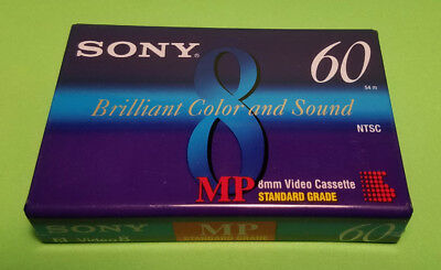 Sony P6-60MP 8mm MP 60 minute Standard Grade cassette Tape New old stock