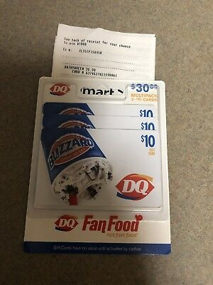 $30 in Dairy Queen gift cards 3x$10