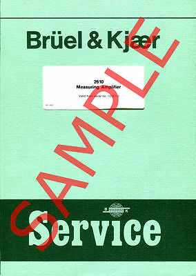 Bruel & Kjaer USER and SERVICE manuals in PDF