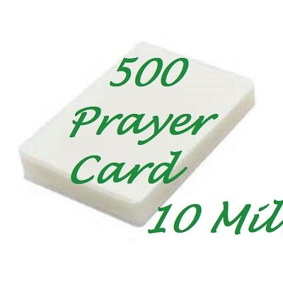 Laminating Pouches Sheets Prayer Card 500 10 Mil 2-3/4 x 4-1/2  Free Carrier's